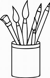 Paintbrush Sketch Colorear Peintre Pennelli Wecoloringpage Coloringpagesfortoddlers Oguchionyewu sketch template