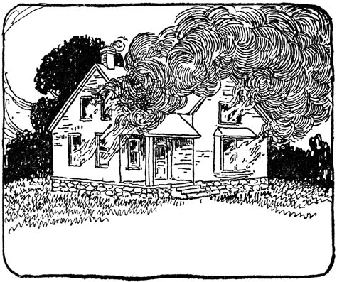 story house  fire clipart