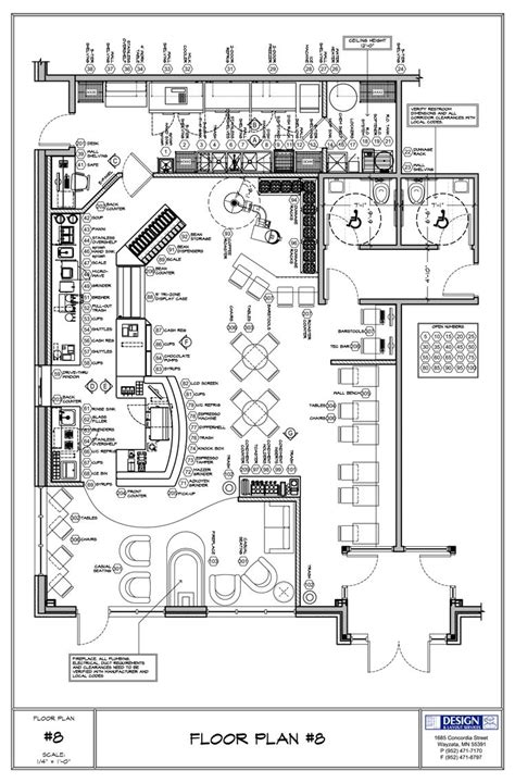 shop design layout coffee shop floor plan day care center