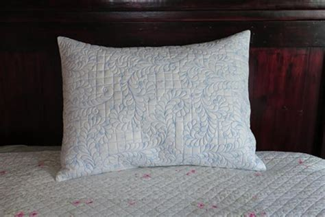 quilted pillow shams wholecloth quilted pillow shams a free project from