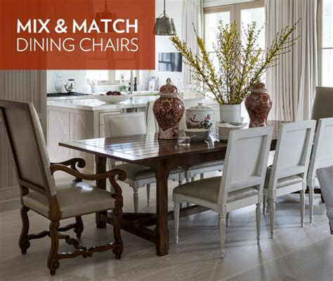 photo gallery mix match dining chairs