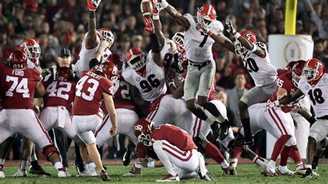 time  georgia alabama game start  college