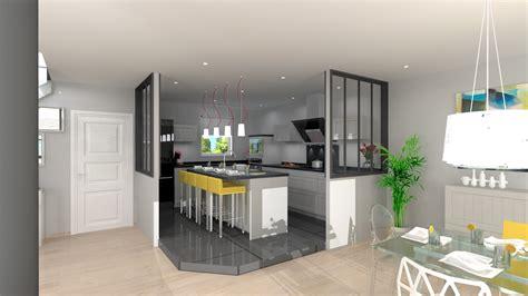 modele de cuisine moderne avec ilot cuisine indogate decoration interieur salon cuisine