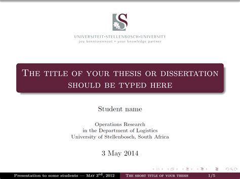 Template Tex Thesis by Latex Template Thesis Presentation Durdgereport886 Web