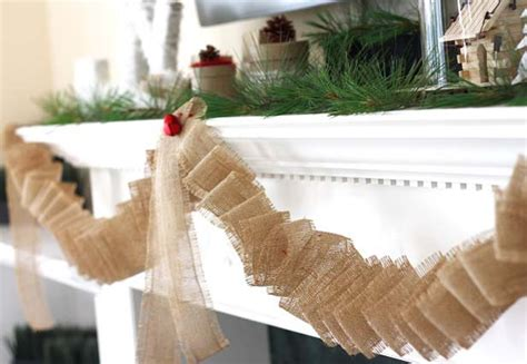 burlap garland  diy ideas guide patterns