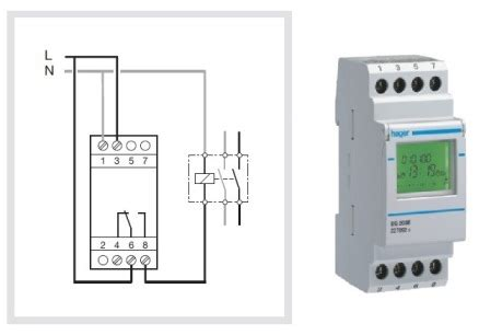digital time switch egbe hager