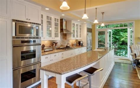 wide galley kitchen best kitchen styles island galley 1099