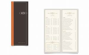 bistro bar take out brochure template design With take out menu templates free