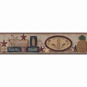 York Wallcoverings Welcome Home Welcome Pineapple Border
