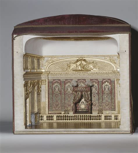 chambre louis xiv maquette de la chambre du roi louis xiv à versailles
