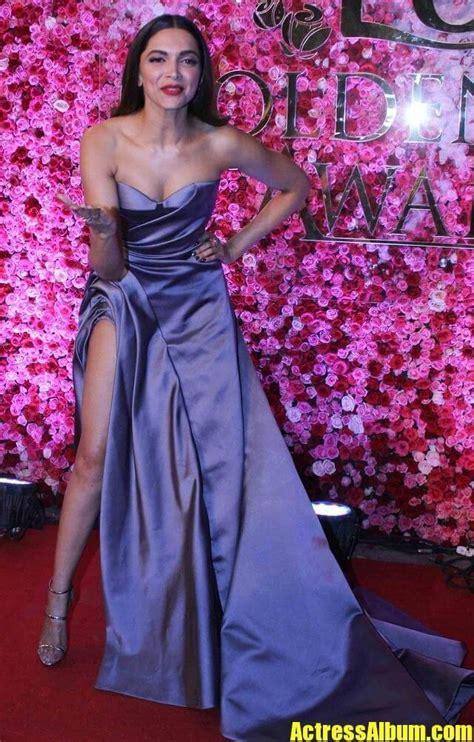 deepika padukone long leg show  blue dress actress album