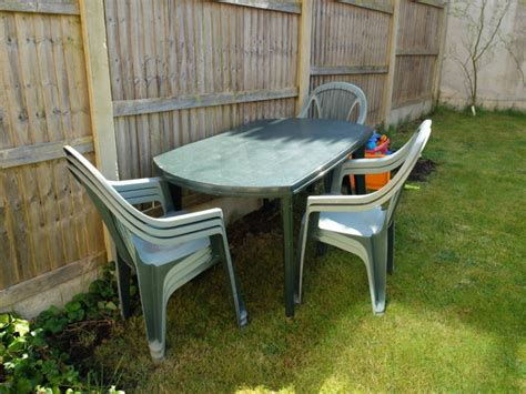 Garden Table And Chairs Sale by Green Plastic Garden Table 6 Chairs For Sale In Midleton