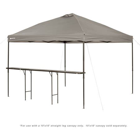 ozark trail bar height  folding canopy table walmartcom