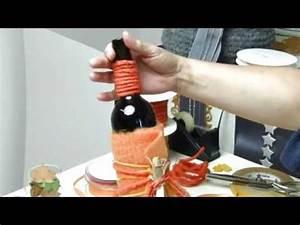 Weinflasche Verpacken Selber Machen : anleitung weinflasche als geschenk verpacken youtube ~ Watch28wear.com Haus und Dekorationen