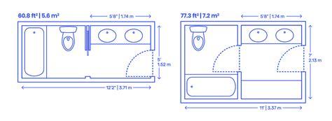 Bathroom Designs Dimensions by Split Bathrooms Dimensions Drawings Dimensions Guide