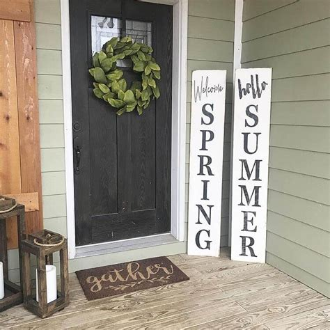 Best Spring Porch Sign Ideas Designs For