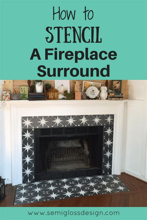 How To Use Fireplace - the easiest way to paint fireplace tile using a stencil