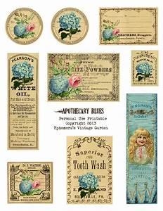 Ephemera's Vintage Garden: Free Printable - Apothecary ...