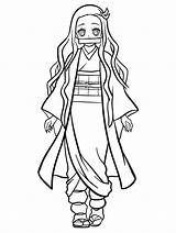 Nezuko Kamado sketch template