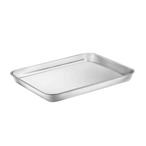 cookie sheet baking toaster rectangle oven tray pan steel inoxidable stainless bandeja acero horno toxic rust dishwasher sturdy thick stick