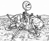 Coloring Space Robot Pages Travel Moon Explorer Land Robots Tocolor sketch template
