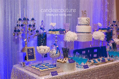 sweet sixteen dessert table sparkly sweet 16 dessert table candee couture plano tx