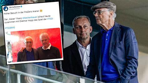 franz beckenbauer gibt stadion comeback kaiser schaut