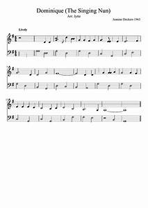 Clarinet Chart Pdf Dominique The Singing Piano Sheet Music Printable
