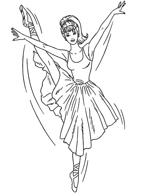 ballerina coloring pages bestofcoloringcom