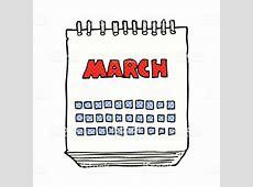 Cartoon March Calendar Stock Vector Art & More Images of