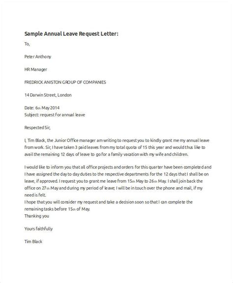 request letter format leave write  letter  application