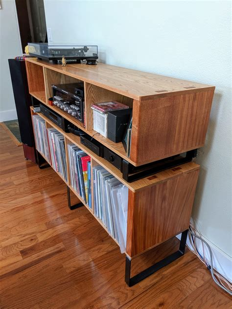 record cabinet  shop project woodworking