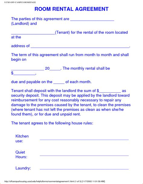 image result  college roommate agreement template room