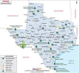 Texas National Parks Map