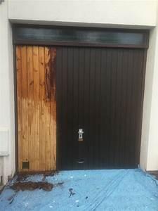 decapage d39une porte de garage steve robert peinture With peinture de porte de garage