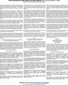 Thule Cascade Xt 676xt Users Manual 05301 02