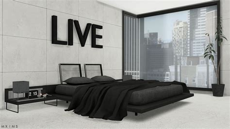 stylish bedrooms stylish modern bedroom conversion by mxims teh sims