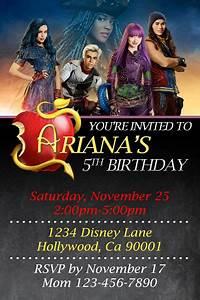 Birthday Invitation Design Descendants 2 Invitations General Prints