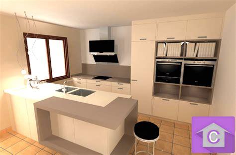 modele de cuisine avec ilot central cuisine leicht avec îlot