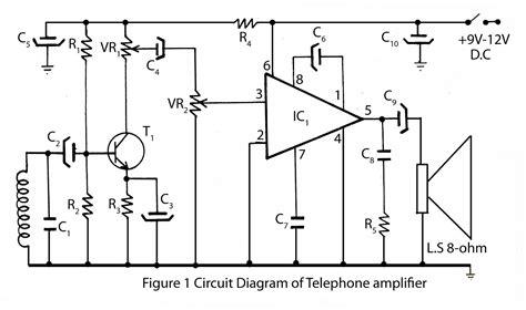 Simple Telephone Amplifier Circuit Diagram Electronic