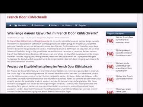 Kühlschrank Door Eiswürfel by Wie Lange Dauern Eisw 252 Rfel Im Door K 252 Hlschrank