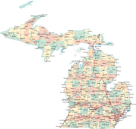 map  michigan america maps map pictures