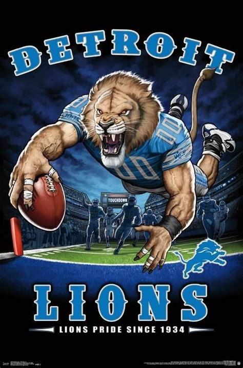 detroit lions lions pride   nfl theme art