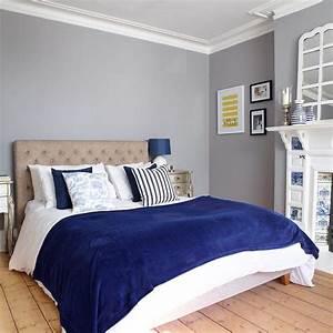 Tete De Lit Bleu : chambre gris blanc bleu best une d ferlante de bleu dans ~ Premium-room.com Idées de Décoration