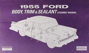 1955 Ford Car  U0026 Thunderbird Wiring Diagram Manual Reprint