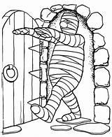 Mummy Coloring Pages Chamber Walking Into Colornimbus Printable Print sketch template