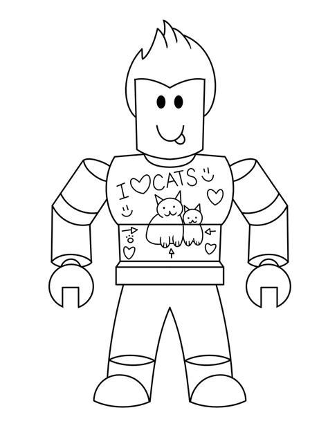 dibujos  colorear roblox imprima gratis en linea