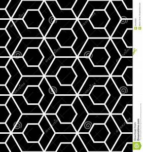 Vector Modern Seamless Sacred Geometry Pattern, Black And ...