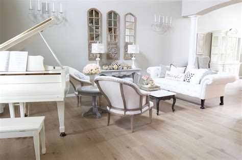French Glam Living Room Reveal With New Wood Floors