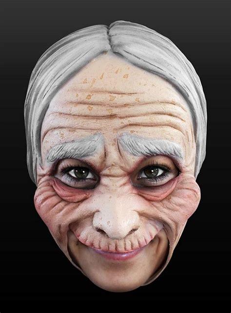 alte frau kinnlose maske aus latex maskworldcom